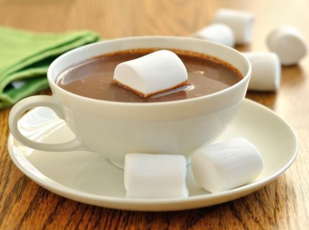 Горячий шоколад и маршмелоу