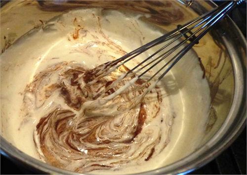 Готовим торт три шоколада