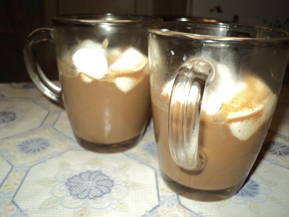 Готовый горячий шоколад с зефиром