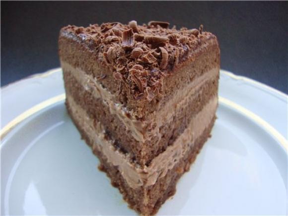 Торт прага классический в разрезе