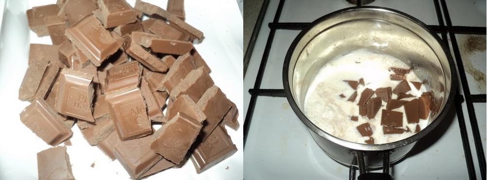 Шоколад в кастрюле