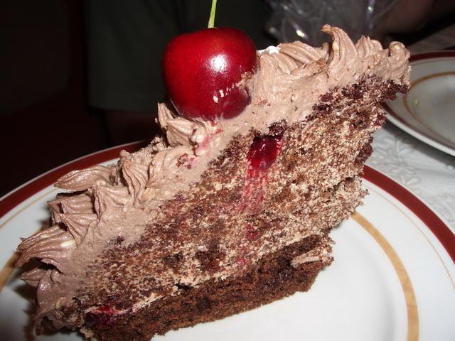 Торт ёжик в разрезе