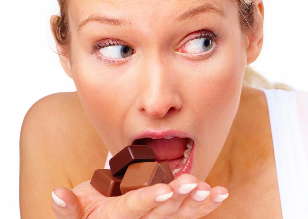 Девушка с шоколадом