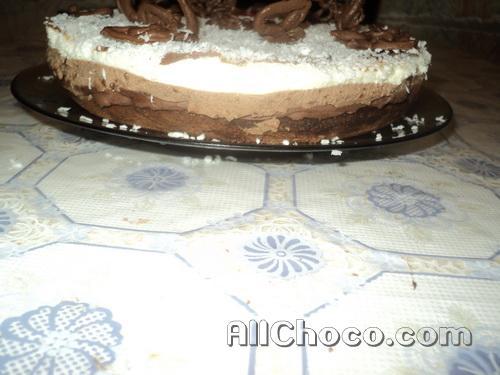 Готовый торт три шоколада