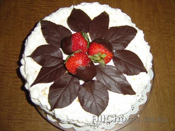 готовые шоколадные листья