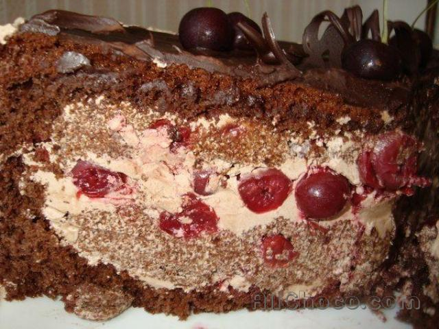 торт пьяная вишня пошаговый рецепт без сгущенки