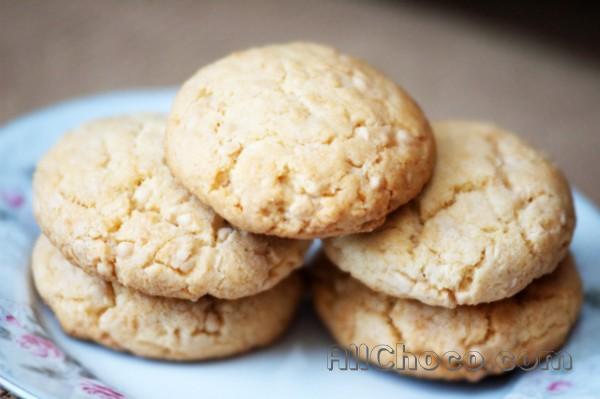 Рецепт: печенье с белым шоколадом