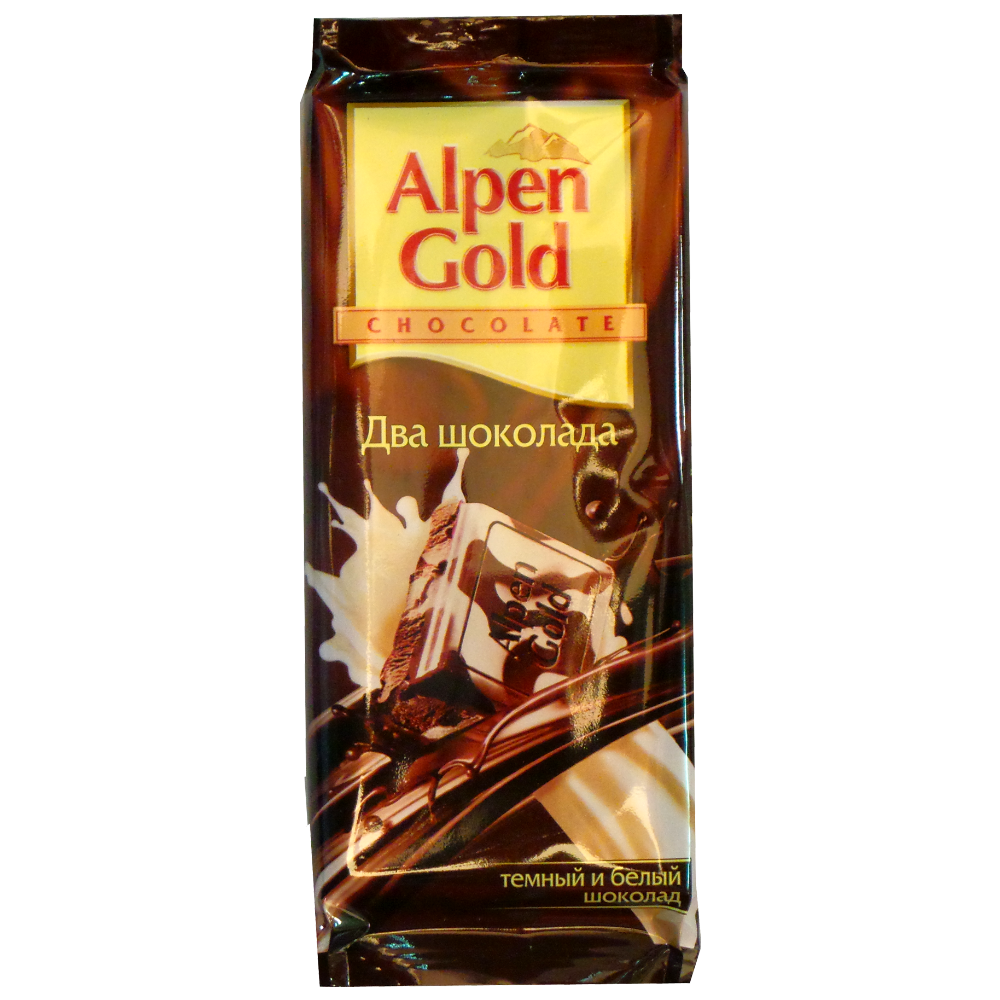 Шоколад Alpen Gold «Два Шоколада» темный и белый