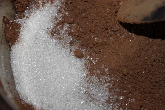 Какао и сахарный песок