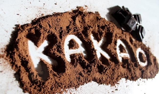 Порошок какао с надписью