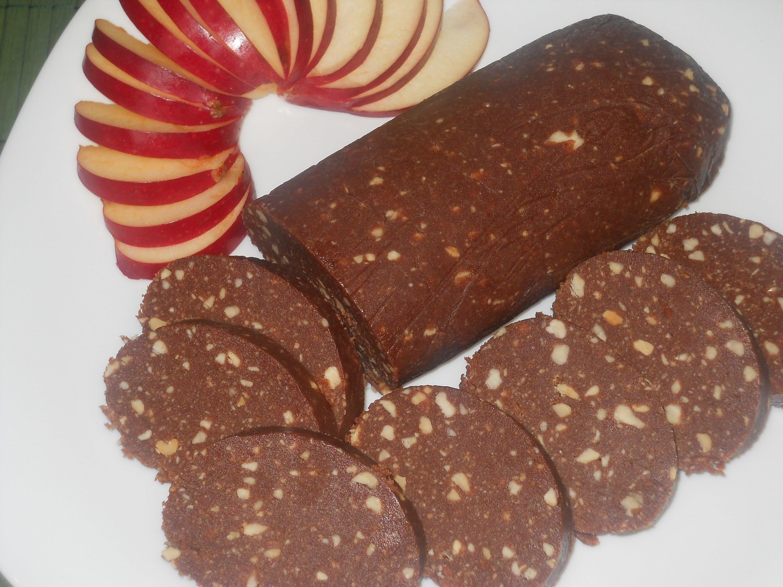 Шоколадная колбаса: рецепт приготовления