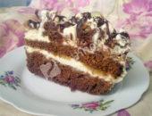 Торт с бананом и шоколадом: рецепт приготовления