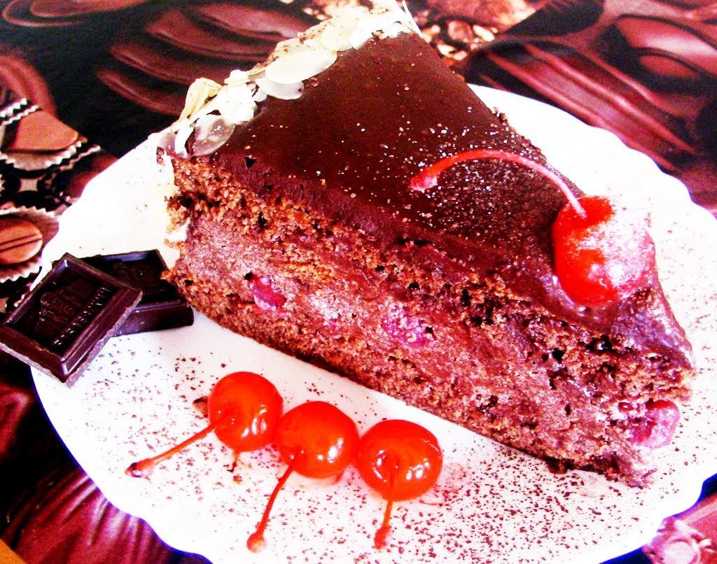 торт пьяная вишня в шоколаде пошаговый рецепт
