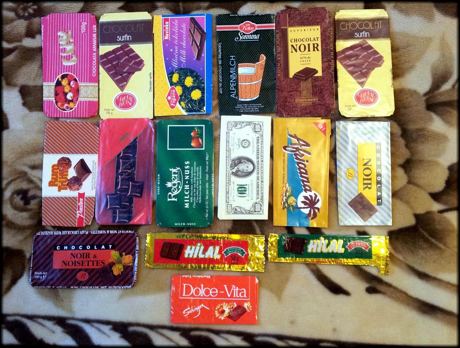 Шоколадки 90 х годов (обзор)