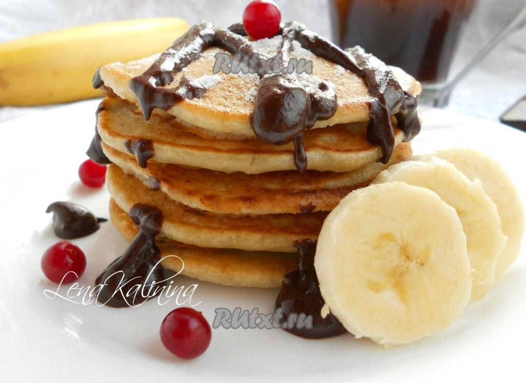 Блины с шоколадом и бананом рецепт