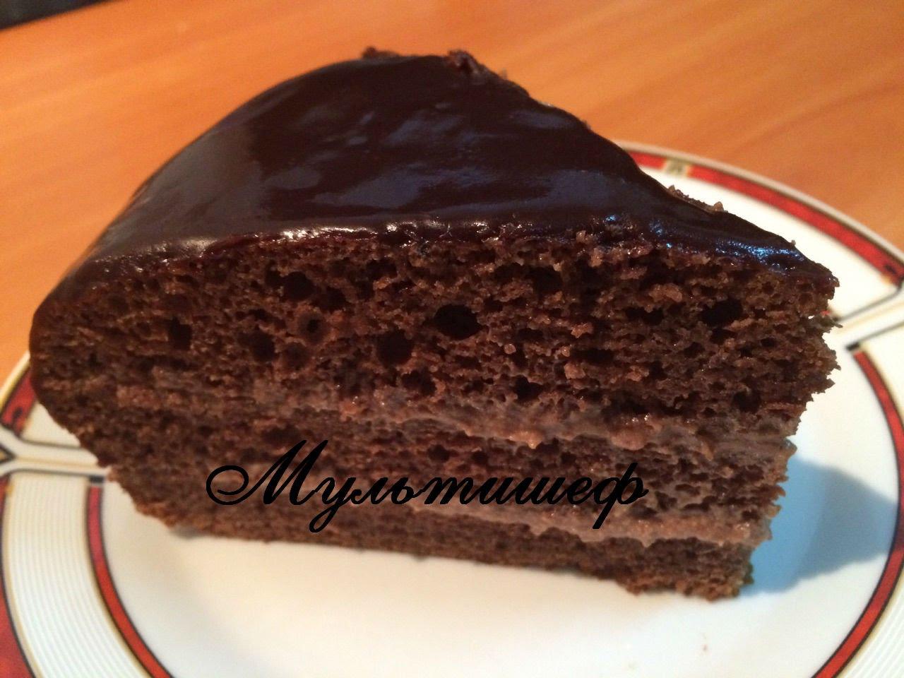 торт из бисквита в мультиварке рецепты с фото