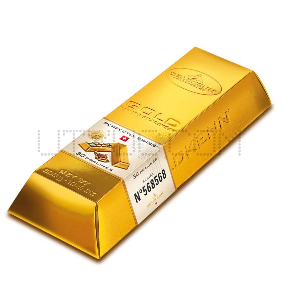 Шоколад как золотой слиток