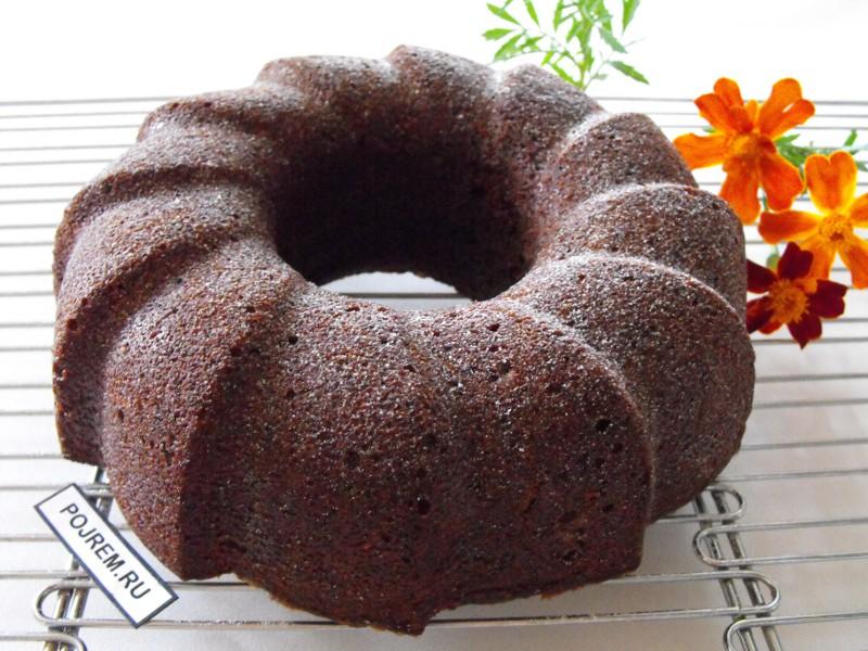 Кекс в силиконовой форме шоколадный