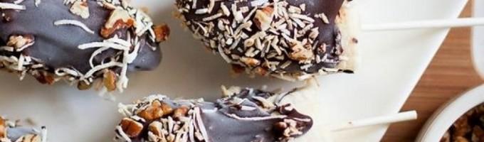 Бананы в шоколаде на палочке: рецепт приготовления