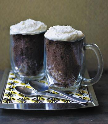 Шоколадные кексы с зефиром