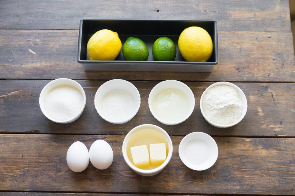 Ингредиенты для базового рецепта шоколадного кекса