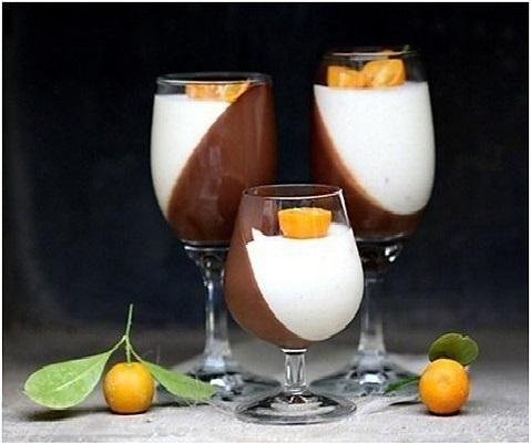 Шоколадно-апельсиновая панна-котта