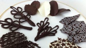 Украшения из шоколадной глазури
