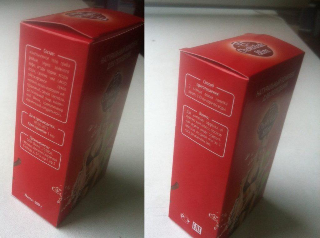 Упаковка «Шоколада Слим» московского производителя