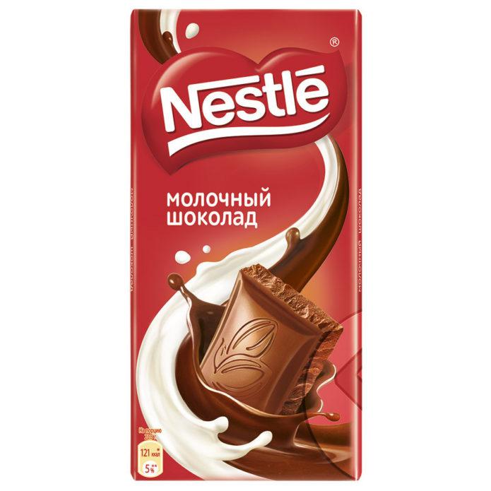 Молочный шоколад фирмы Nestle