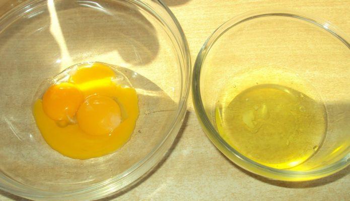 Белки и желтки для бисквита
