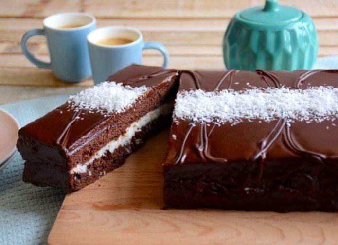 Домашний торт Киндер-ломтик