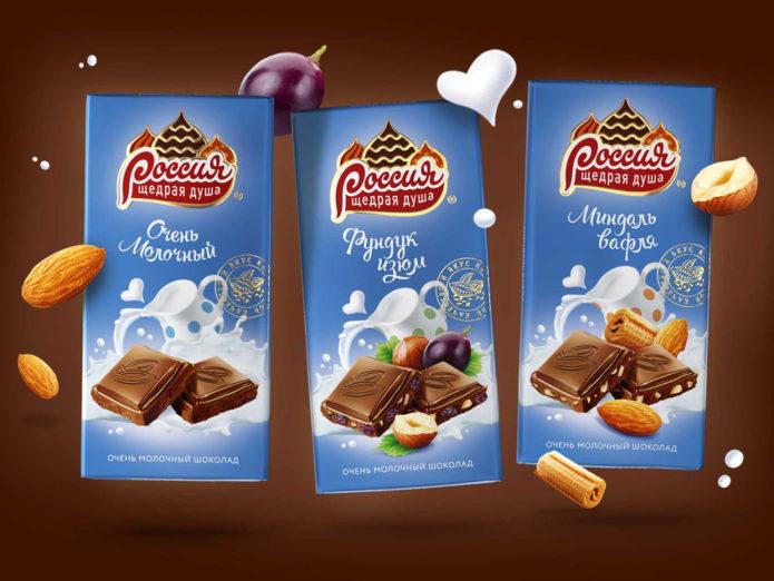 Шоколад «Россия — щедрая душа»