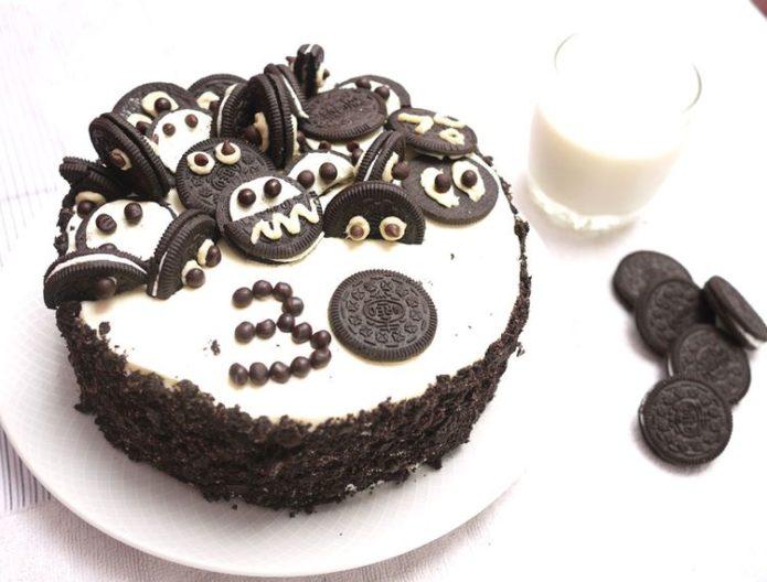 Торт «Орео» с печеньем