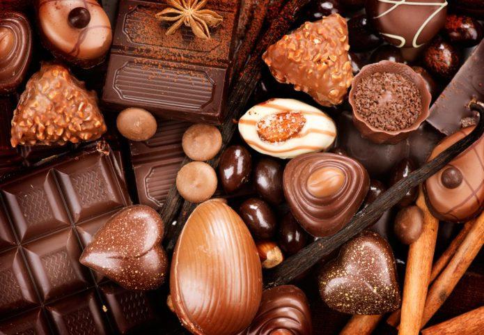 Изделия из молочного шоколада