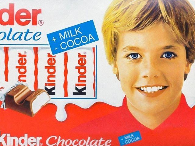 Старая упаковка шоколада «Киндер»