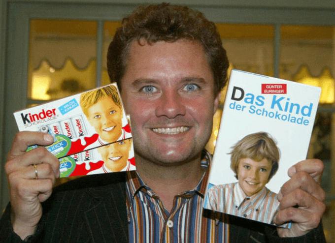 Гюнтер Эурингер с шоколадом «Киндер»