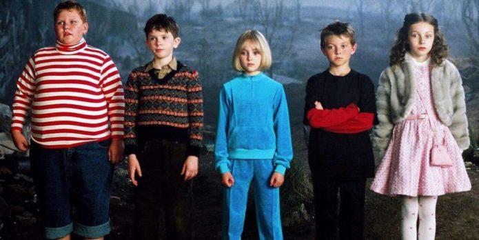 Юные актёры из фильма «Чарли и шоколадная фабрика»