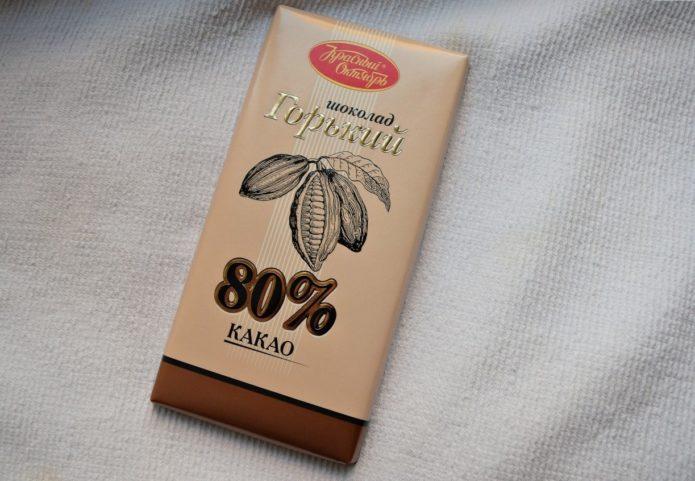 Горький шоколад фабрики «Красный Октябрь»