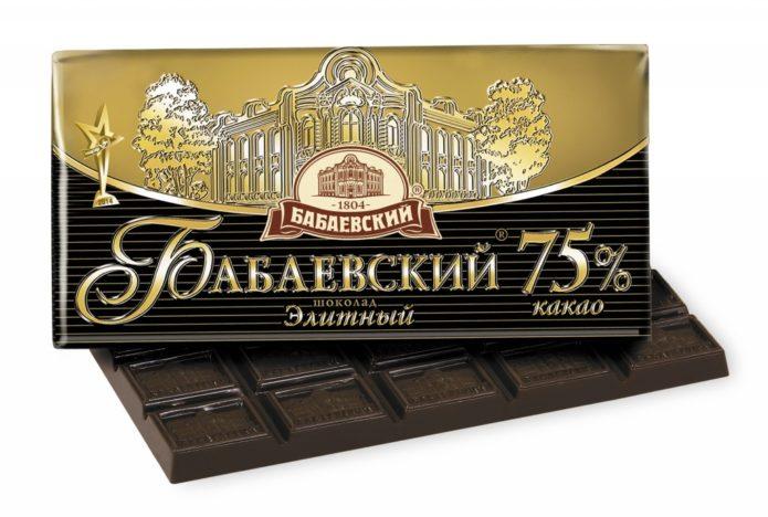 Горький шоколад «Бабаевский»