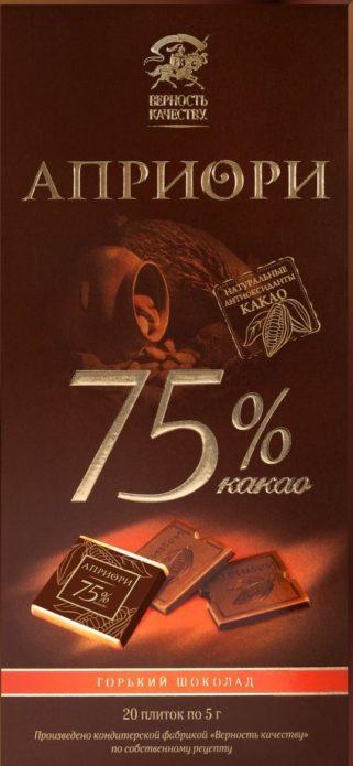 Горький шоколад «Априори»