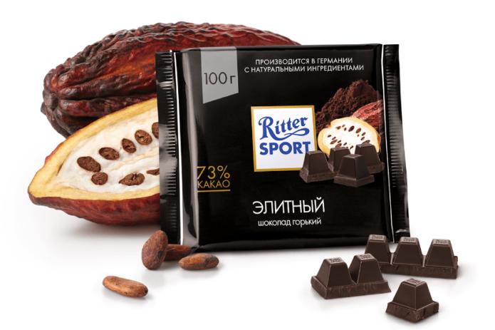Горький шоколад Ritter Sport