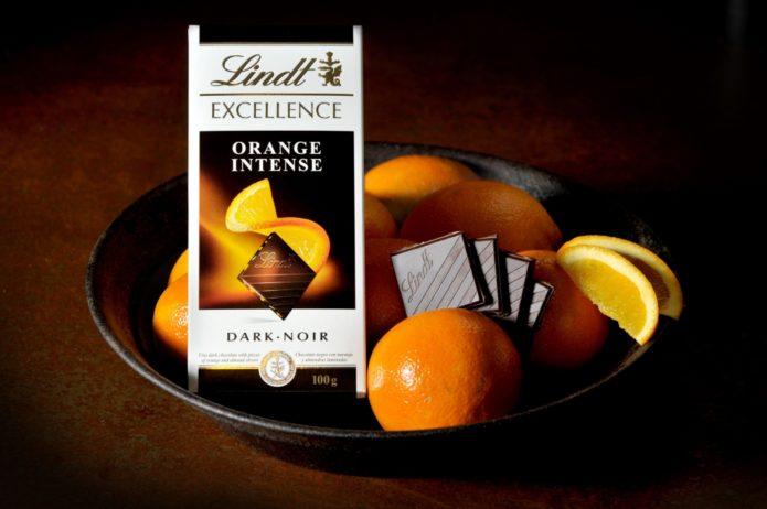 Шоколад Тёмный апельсин от Lindt