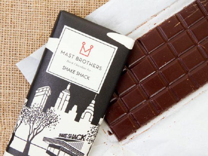 Необычный шоколад с трюфелями Mast Brothers