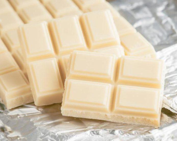 Плитки белого шоколада — в чём польза и вред продукта?
