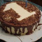 Торт с цифрой 1