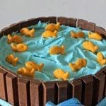 Торт в виде озера