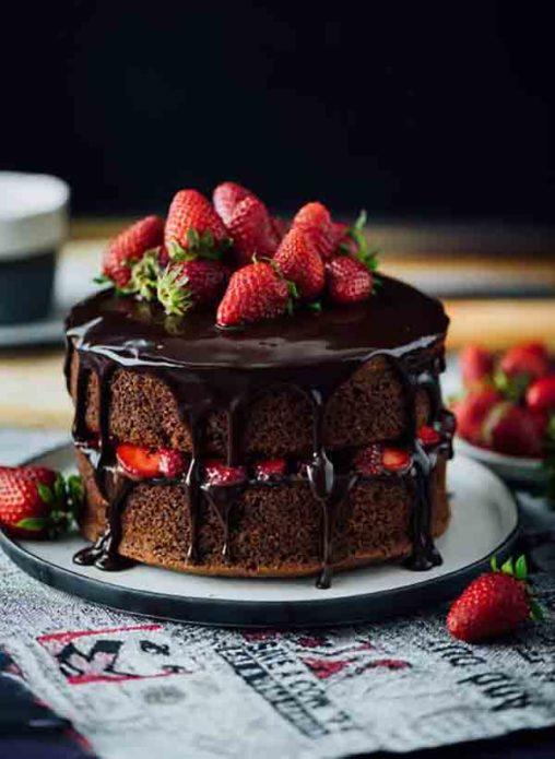 Тортик-пирожное с ягодами