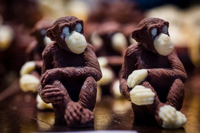 Фигурки из шоколада