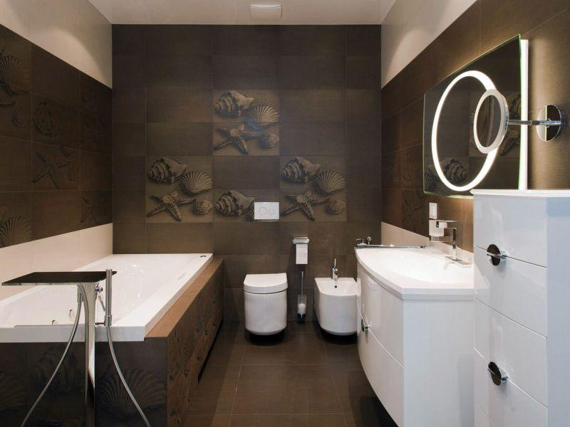 20 идей дизайна ванной в шоколадных тонах