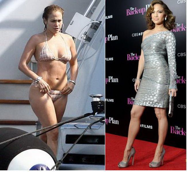 Дженнифер Лопес до и после похудения